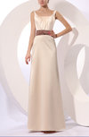 Traditional A-line Zip up Floor Length Bow Mother of the Bride Dresses