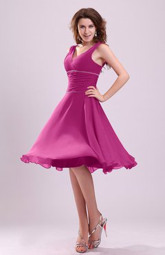 Hot Pink Color Bridesmaid Dresses - UWDress.com