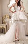 Modern Garden Strapless Sleeveless Satin Chapel Train Sequin Bridal Gowns