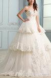 Glamorous Church Princess Sweetheart Sleeveless Backless Chapel Train Bridal Gowns