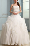 Cinderella Outdoor A-line Lace up Court Train Paillette Bridal Gowns