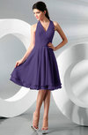 Simple A-line Halter Zip up Chiffon Bridesmaid Dresses