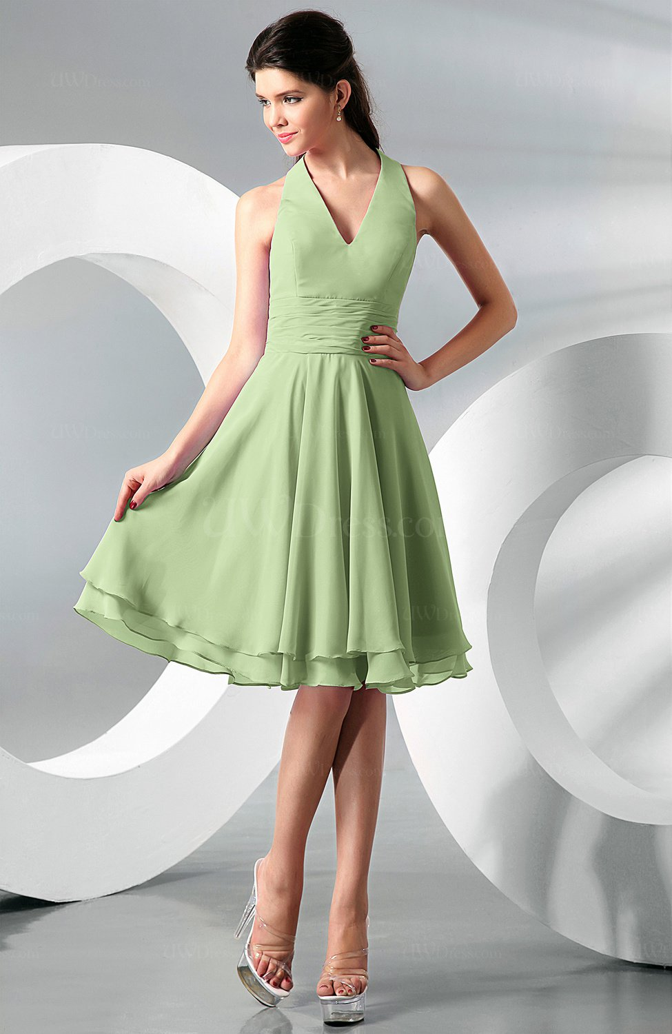 Sage green simple a line halter zip up chiffon bridesmaid dresses simple a line halter zip up chiffon bridesmaid dresses ombrellifo Gallery