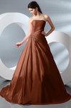 Fairytale Garden A-line Backless Taffeta Court Train Bridal Gowns