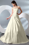 Fairytale Garden A-line Backless Taffeta Court Train Bridal Gowns