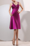 Hawaiian V-neck Hook up Elastic Woven Satin Rhinestone Bridesmaid Dresses