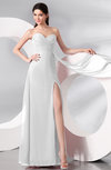 Plain Sleeveless Zip up Chiffon Floor Length Prom Dresses