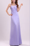 Plain Thick Straps Sleeveless Zip up Satin Evening Dresses
