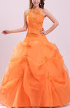 Fairytale Sheer Sleeveless Organza Embroidery Prom Dresses