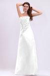 Traditional Destination A-line Zip up Taffeta Floor Length Appliques Bridal Gowns