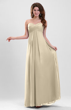 Champagne Elegant A-line Zipper Chiffon Floor Length Ruching Party Dresses