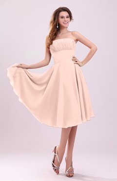 Dusty Rose Simple A-line Sleeveless Backless Pleated Wedding Guest Dresses
