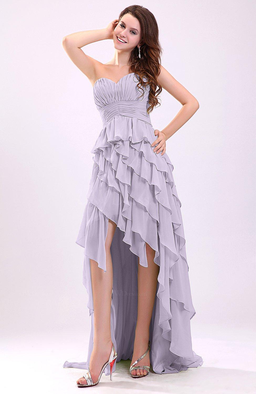 Light purple gorgeous sweetheart lace up chiffon knee for Purple dresses for weddings knee length