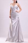 Elegant Outdoor A-line V-neck Sleeveless Zipper Floor Length Bridal Gowns
