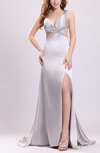 Gorgeous Thick Straps Criss-cross Straps Elastic Woven Satin Sequin Prom Dresses