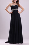 Modern A-line Sweetheart Backless Chiffon Rhinestone Prom Dresses