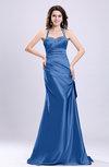 Sexy A-line Sleeveless Backless Silk Like Satin Evening Dresses