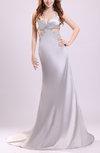 Sexy Fishtail Thick Straps Sleeveless Elastic Woven Satin Prom Dresses