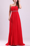 Gorgeous Sleeveless Zipper Chiffon Sweep Train Paillette Prom Dresses