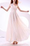 Elegant Asymmetric Neckline Zipper Chiffon Paillette Prom Dresses