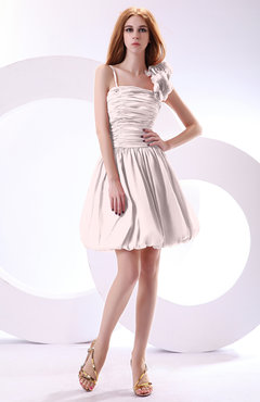 Blush Cute A-line Spaghetti Sleeveless Taffeta Short Wedding Guest Dresses