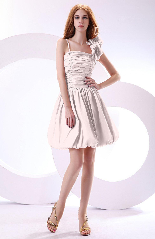 Blush Cute A-line Spaghetti Sleeveless Taffeta Short Wedding Guest ...