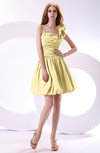 Cute A-line Spaghetti Sleeveless Taffeta Short Wedding Guest Dresses