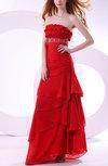 Cute Sheath Sleeveless Backless Chiffon Floor Length Evening Dresses