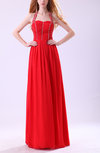 Modest Halter Sleeveless Zipper Chiffon Pleated Prom Dresses