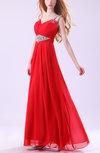 Cinderella A-line Thick Straps Sleeveless Zipper Chiffon Evening Dresses