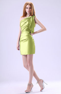 Lime Green Club Dresses Lime Green Modest Asymmetric
