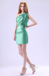 Modest Asymmetric Neckline Sleeveless Zipper Ruffles Club Dresses