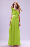 Elegant Zipper Chiffon Floor Length Ruching Bridesmaid Dresses