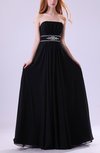 Simple Empire Zip up Chiffon Floor Length Ruching Evening Dresses