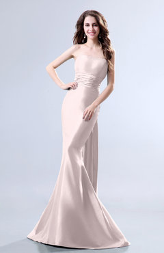 Blush Elegant Mermaid Sleeveless Backless Court Train Evening Dresses