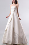 Disney Princess Hall Strapless Satin Floor Length Flower Bridal Gowns