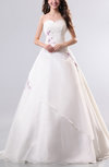 Cinderella Outdoor Sweetheart Sleeveless Organza Floor Length Bridal Gowns