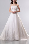 Cinderella Church A-line Scalloped Edge Backless Chapel Train Edging Bridal Gowns