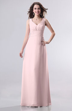 Blush Simple Empire Sleeveless Zip up Ruching Wedding Guest Dresses