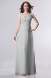 Simple Empire Sleeveless Zip up Ruching Wedding Guest Dresses