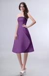 Simple A-line Strapless Zipper Knee Length Draped Party Dresses