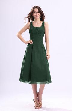 Green Tea Length Dress