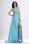 Sexy Sheath Halter Backless Pleated Evening Dresses