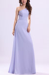 Elegant One Shoulder Zip up Chiffon Ruching Evening Dresses