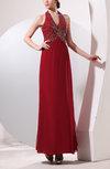 Elegant Sheath Halter Zipper Chiffon Party Dresses
