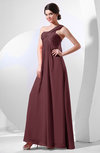 Elegant Empire One Shoulder Sleeveless Chiffon Bridesmaid Dresses