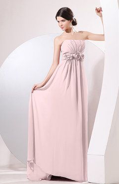 Blush Elegant Empire Strapless Sleeveless Zip up Sweep Train Evening Dresses