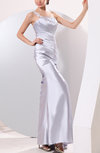 Elegant Column Sleeveless Backless Ankle Length Draped Evening Dresses