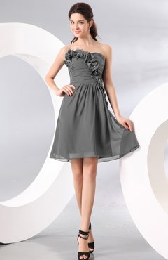 Grey Knee Length Dresses