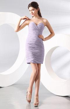 short light purple strapless dress